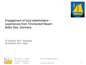 Engagement of local stakeholders - Ecologic Events