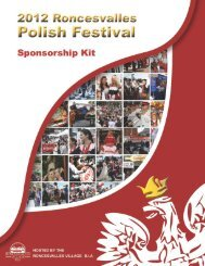 2012 Roncesvalles Polish Festival Sponsorship Kit • page 1 of 16