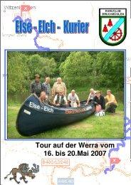 Tour auf der Werra vom 16. bis 20.Mai 2007 - jedisoft.de