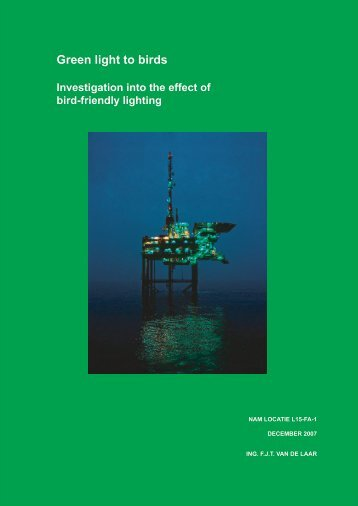 Green light to birds: Investigation into the effect of bird ... - Waddenzee