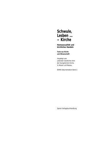 Schwule, Lesben … – Kirche Homosexualität und ... - EKHN