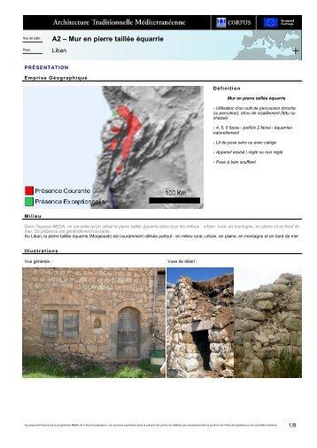 A2 – Mur en pierre taillée équarrie