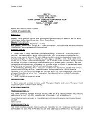 minutes vernon town council regular meeting ... - Town of Vernon