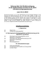 Straßenreinigungssatzung - Stadt Zwickau