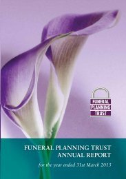 funeral planning trust annual report - Funeral Planning Services