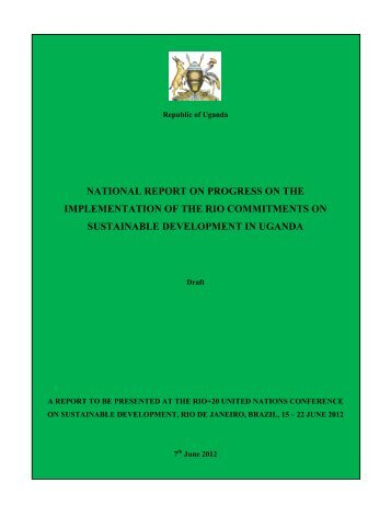 National Report - Uganda - United Nations Sustainable Development