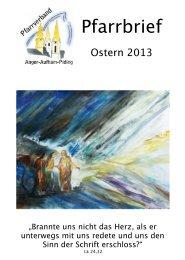 Pfarrbrief Ostern 2013 Master - Pfarrverband Anger-Aufham-Piding