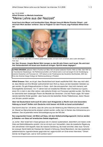 """""""Meine Lehre aus der Nazizeit"""" - Netzwerk Schweiz für einen ..."""