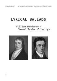 lyrical ballads - OKFN:LOCAL India - Open Knowledge Foundation