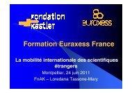 La mobilité internationale des scientifiques étrangers - Agropolis ...