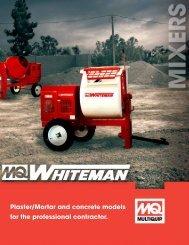 Whiteman Towable Mixer Brochure - Multiquip Inc.