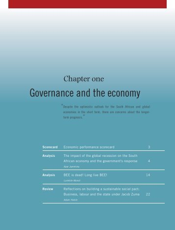 CHAPTER 1 Governance and the economy
