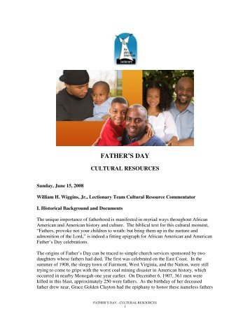 FATHER'S DAY - The African American Lectionary