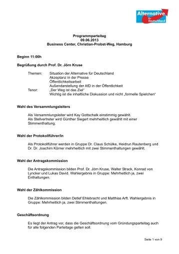 Programmparteitag 09.06.2013 Business Center, Christian-Probst ...