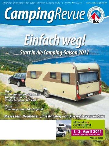 Start in die Camping-Saison 2011 - Österreichischer Campingclub