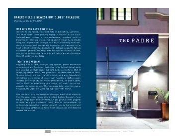 BAKERSFIELD'S NEWEST BUT OLDEST ... - The Padre Hotel