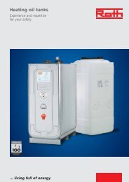 Brochure heating oil tanks - Roth Werke