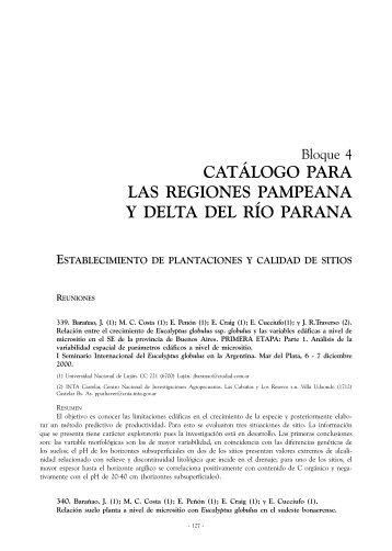 catálogo para las regiones pampeana y delta del río parana