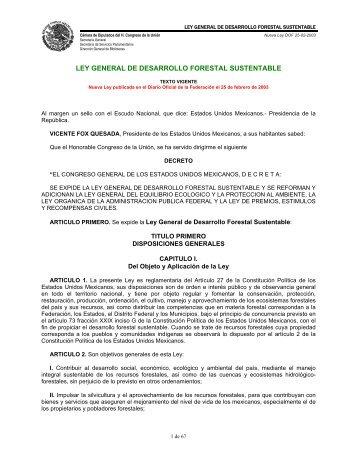 ley general de desarrollo forestal sustentable - Asociación Nacional ...