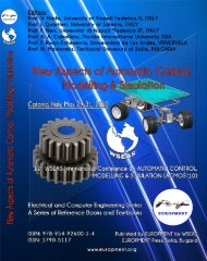 New Aspects of AUTOMATIC CONTROL, MODELLING ... - Wseas.us