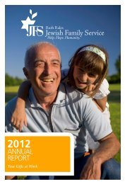 JFS Annual Report 2012 (PDF Document) - Ruth Rales Jewish ...