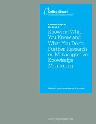 Further Research on Metacognitive Knowledge Monitoring