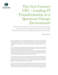 The 21st Century CIO -- Leading IT Transformation in a ... - Cognizant