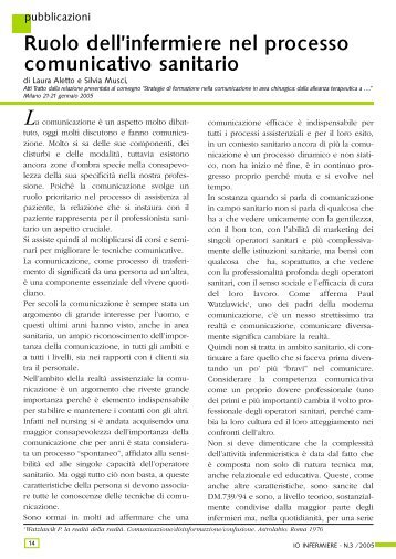 visualizza l'articolo in formato pdf - Ipasvi Milano Lodi