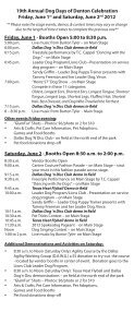 19th Annual - Dog Days of Denton - Page 2