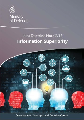 JDN 2/13: Information Superiority - Gov.uk