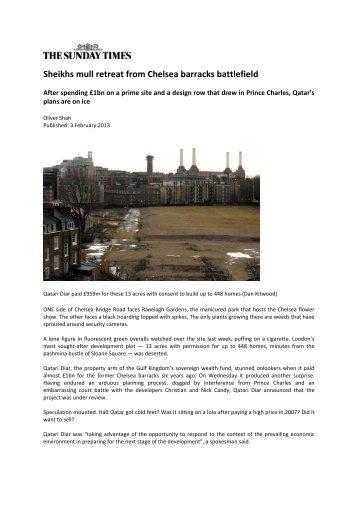 Sheikhs mull retreat from Chelsea barracks battlefield - VanHan
