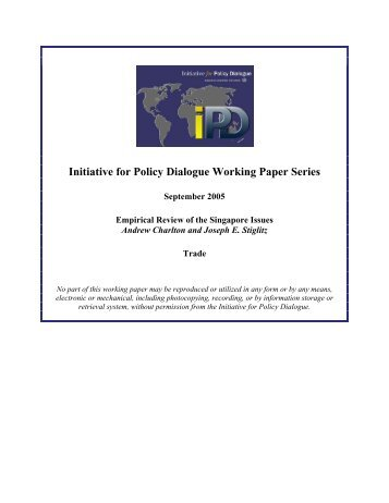 Initiative for Policy Dialogue Working Paper Series