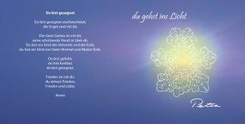 du gehst ins Licht - Dolphinkissis.ch