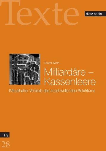 Milliardäre – Kassenleere - Rosa-Luxemburg-Stiftung