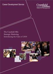 Career Development Service -  Cranfield School of Management ...