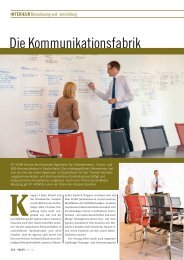 Interieur: Die Kommunikationsfabrik - FACTS Verlag GmbH