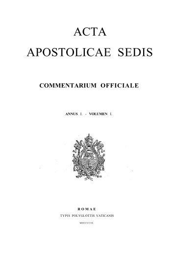 AAS 01 [1909] - La Santa Sede