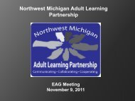 TAPET Update–Year 3 Transitioning Adults into ... - www.NWM.org