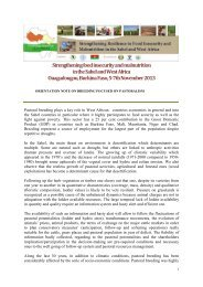 Strengtheningfood insecurity andmalnutrition inthe Sahel ... - CILSS