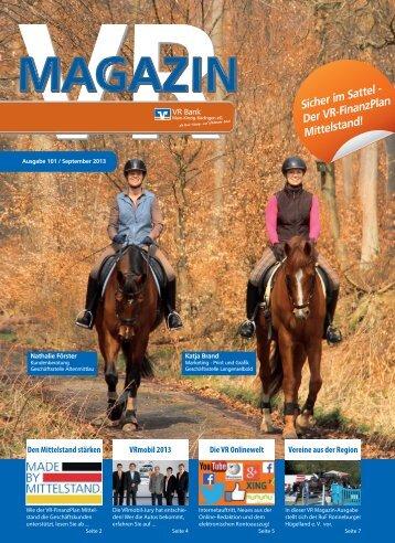 Ausgabe September 2013 - VR Bank Main-Kinzig-Büdingen eG