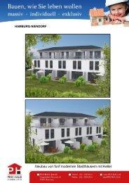Neubau von fünf modernen Stadthäusern mit Keller - Herzlich ...