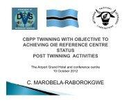 C. MAROBELA-RABOROKGWE - OIE Africa
