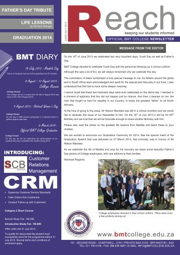2013 July College Newsletter - Business Management Training ...