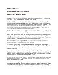 Housestaff Leave - Virginia Commonwealth University School of ...