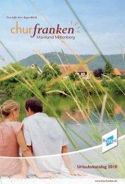 Ferienwohnungen und -häuser Holiday apartments ... - Churfranken