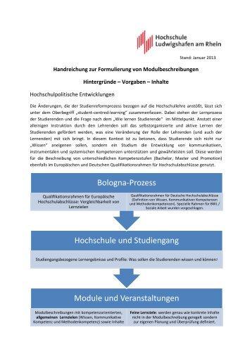 Module und Veranstaltungen Hochschule und Studiengang ...