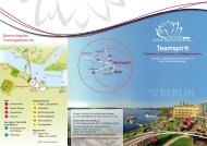 Teamspirit 2013 - INFOFLYER - Resort Mark Brandenburg