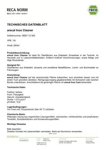 0895 112 500 Edelstahlreiniger Inox Cleaner.pdf - RECA NORM