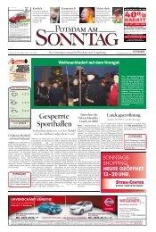Gesperrte Sporthallen - Potsdamer Neueste Nachrichten