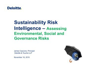 Sustainability Risk Intelligence – Assessing - The Institute of Internal ...